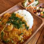 89507088 - シーフードのふんわり玉子カレー炒めのせご飯