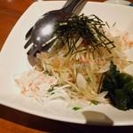 庵GuRi - 蕎麦のサラダ?混ぜると・・・ほぼ蕎麦やん!