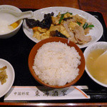 Toukaishuka - きくらげと豚肉の卵炒めのランチ