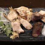 鶏匠吟八 - 刺身が食べられないと言ったら焼いて下さいました。