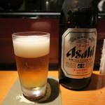 乙女寿司 - 30年7月 スーパードライ中瓶