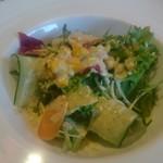 マルヤママッシュルーム - 選べるソースとトッピングのハンバーグセットのサラダ
