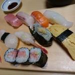 第二ひさご寿司 - 夜のサービスにぎり1,000円