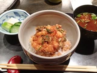 天ぷら岡本 - 今回の締めは、天丼