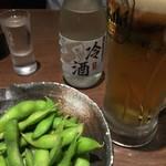 こだわりやま - 枝豆と日本酒の前にビールを!
