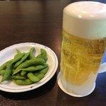 天成園 - 料理写真:キンキンに冷えたビールと枝豆