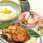 讃岐の味 塩がま屋 - 骨付き鶏定食