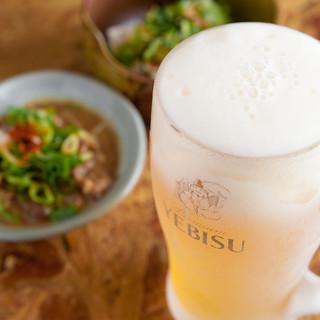 【幹事様必見!】エビスビール3時間飲み放題コースございます!