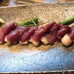 和食 縁 蕎麦切り - 河内鴨もも肉刺身
