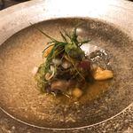 和食 縁 蕎麦切り - 鴨とウニのタルタル