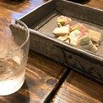 和食 縁 蕎麦切り - マグロとアボカドの湯葉巻き