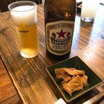 和食 縁 蕎麦切り - 蕎麦チップスと瓶ビール