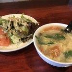 中華料理 八戒 - サラダとスープも付きますよ!