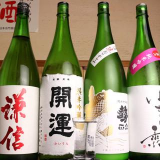 やっぱり日本酒が欲しくなる。20種以上の豊富な厳選銘酒たち◎