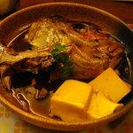 花藤 - 鯛頭の煮付け(850円) これで日本酒4合いけました