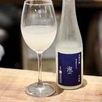 餃子とスパークリング バブルス - 泡酒