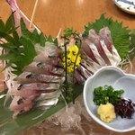 魚國 - 地鯵の刺身は1500円