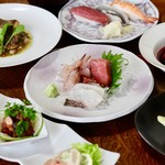 魚康 - 宴会、コース料理(一例)