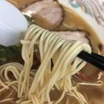 ラーメン楽 - 博多タイプの細麺