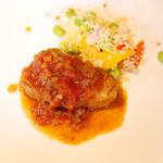 KOST - 鮮魚のポワレ ラビコットソース ミニ野菜のサラダ