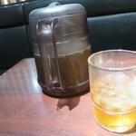 肉の館 羅生門 - お茶はピッチャーで出してくれます