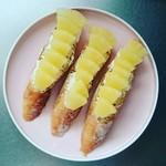 トラスパレンテ - バケットでパイナップルとクリームチーズの自家製オープンサンド❤