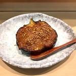 三代目 まる天 - 丸茄子の肉味噌焼き