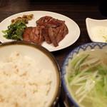 牛タン焼専門店 司 - 牛タン定食<3枚>