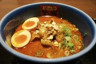 博多とんこつ 笑い豚 - 「肉まみれ濃厚担々麺」(1080円)