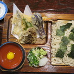 そば処 天寿庵 - 料理写真:天ざる_1,100円