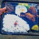 しんわ - 料理写真:日替わり弁当(\400) 7月21日の今日は手羽元のピリ辛