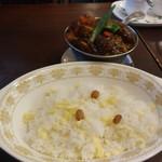 89571051 - ビーフタンカレープラス野菜、ライス
