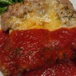 89572930 - さっぱりしたトマトソースが良い                       味のないマッシュポテトは箸休めに丁度良かった