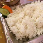 カトマンズキッチン - ライスは日本のお米です。