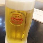 89576978 - 「オリオン生(ジョッキ)」(500円)