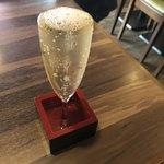 牛タンとがぶ飲みワイン 路地裏バル MATSUDAYA - がぶ飲みこぼしスパークリング 700円