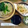 小代 行川庵 - 料理写真:にらそば(大盛)& かき揚げ