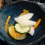 蕎麦酒肴 百景 - 蕎麦 酒肴 百景 @中葛西 ランチに付く新香
