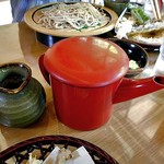 小代 行川庵 - おかわりツユ & 蕎麦湯