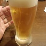 日本酒と個室居酒屋 まぐろ奉行とかに代官 - 生ビール