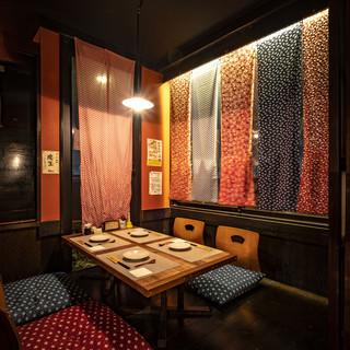 3つの個室をご用意。落ち着いた雰囲気の和空間。昼宴会受付中!