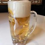 味王 - セットの生ビール。