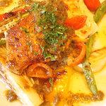 本日の魚料理(あいなめの焼いたの)