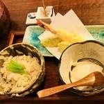 手打ち蕎麦 仙太郎 - 料理写真:鯛めしセット(鯛めし、天ぷら、にがり豆腐、蕎麦)