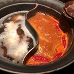 しゃぶしゃぶ温野菜 - 料理写真:麻辣肉鍋&極み出汁