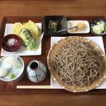 ももも - 料理写真:ミニ野菜天ぷら付きもりそばセット(Bセット)\1,100+大盛り\300