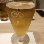 ベジ&フィッシュ - 乾杯の生ビール