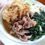 吉田のうどん 富士 - 料理写真:肉天わかめうどん