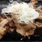 吉野家 - 牛牛定食の牛カルビ皿