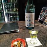 89603059 - [料理] お通し・会津 中将 (グラス & ボトル)